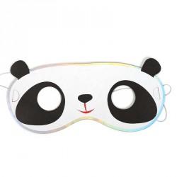 Sachet de 6 masques Panda en carton à decorer