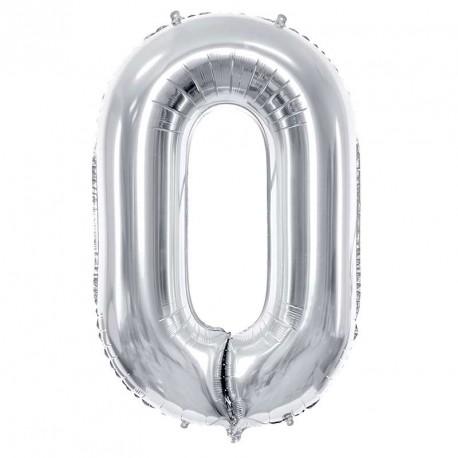 Ballon chiffre Géant Argent 86cm