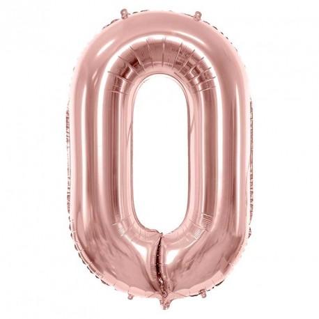 Ballon chiffre Géant Rose gold 86cm