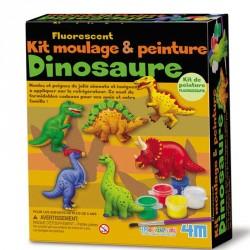 Moulage et peinture Dinosaure