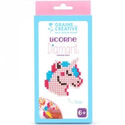 Kit diamond mosaïque stickers Licorne