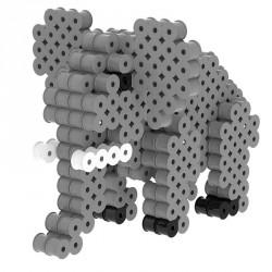 Kit de perles à repasser 3d elephant