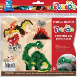 Kit de perles à repasser dinosaures