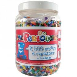 8000 perles à repasser + 3 plaques + feuilles de repassage