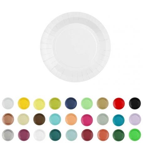 10 petites assiettes en carton nombreuses couleur au choix