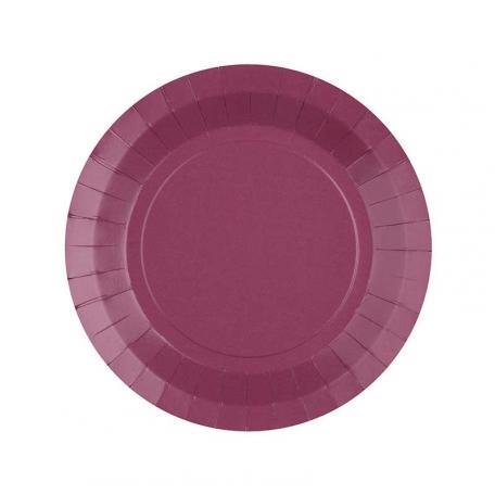 Petite assiette en carton Aubergine biodégradable