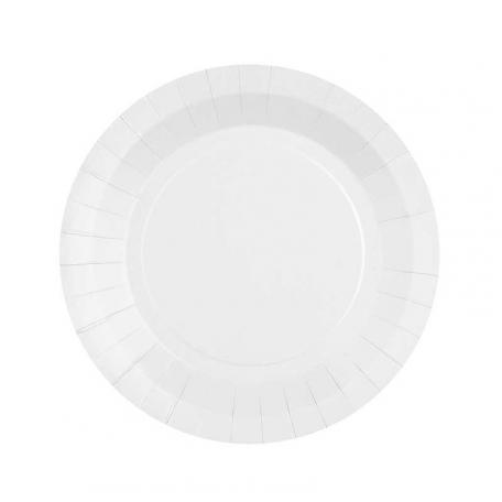 Petite assiette en carton Blanc biodégradable