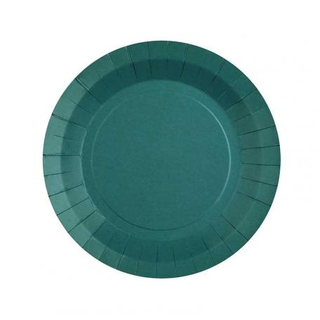 Petite assiette en carton Bleu canard biodégradable