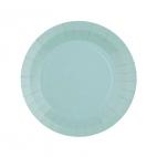 Petite assiette en carton Bleu clair biodégradable