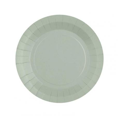 Petite assiette en carton Gris biodégradable