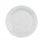 Petite assiette en carton Gris perle biodégradable