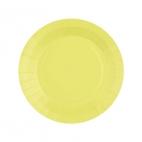 Petite assiette en carton Jaune Citron biodégradable