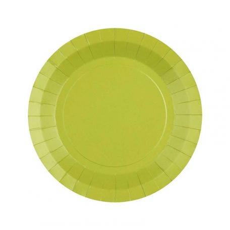 Petite assiette en carton Kiwi biodégradable