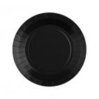 Petite assiette en carton Noir biodégradable