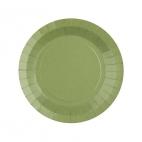 Petite assiette en carton Olive biodégradable