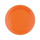 Petite assiette en carton Orange biodégradable