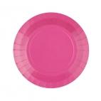 Petite assiette en carton Rose bonbon biodégradable