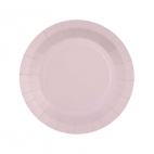 Petite assiette en carton Rose Pâle biodégradable