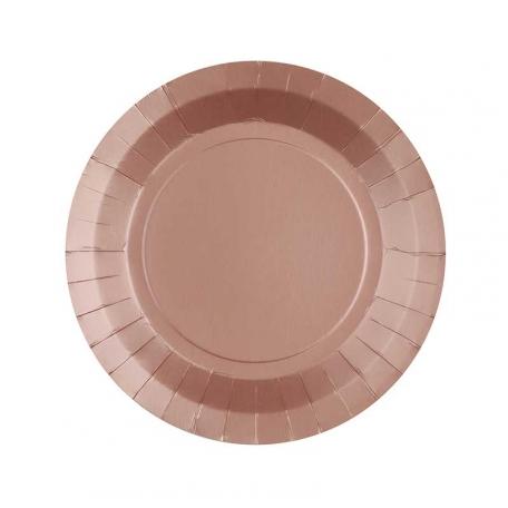 Petite assiette en carton Rose gold biodégradable