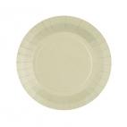 10 petites assiettes en carton couleur sable