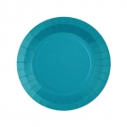 Petite assiette en carton Turquoise biodégradable