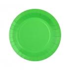 Petite assiette en carton Vert biodégradable