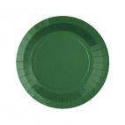 Petite assiette en carton Vert foncé biodégradable