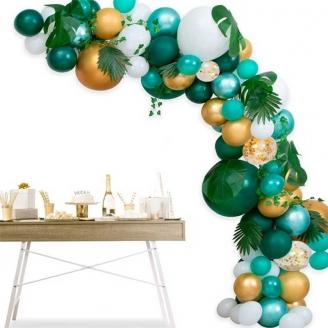 Guirlande de ballon en Kit thème Jungle 118 pièces