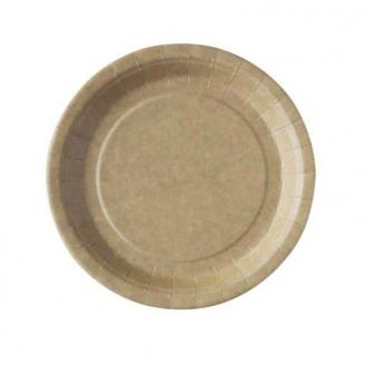 50 assiettes carton Kraft 18 cm