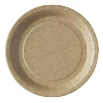 50 assiettes carton Kraft 23 cm