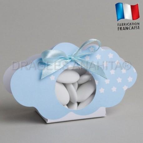 Ballotin à dragées bleu  pour naissance