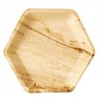 6 grandes assiettes Hexagonal en feuille de Palmier Biodégradable