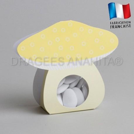 Ballotin à dragées champignons jaune