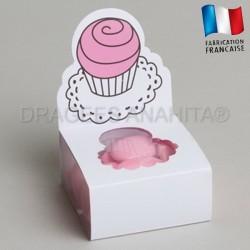 Fourreau à dragées cupcake rose
