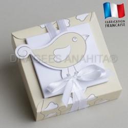 emballage à dragées thème oiseaux