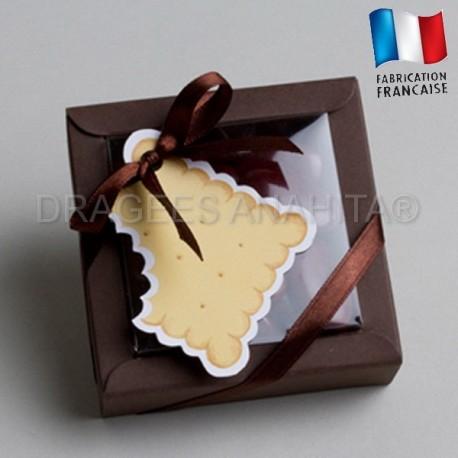 boite à dragées biscuit