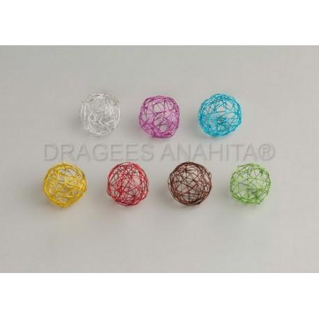 Boule de mètal de couleur 4 cm