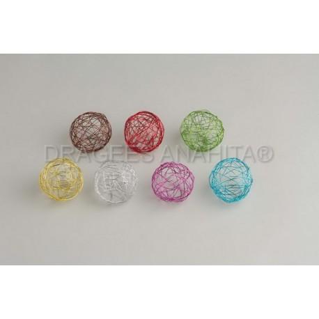 Boule de mètal de couleur 6 cm