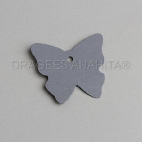 Etiquette en forme de papillon