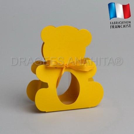 dragées bapteme ourson jaune