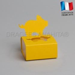 Dragées bapteme porcinet jaune