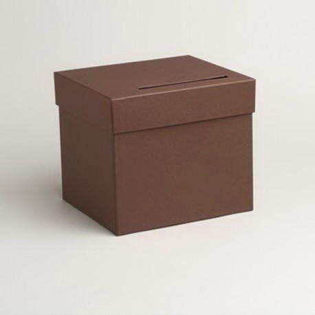 Urne de couleur chocolat