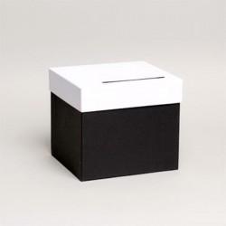 Urne de couleur noir et blanc