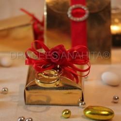 Boite à dragées coffret or