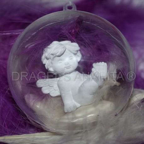 Boule à dragées transparente 6 cm