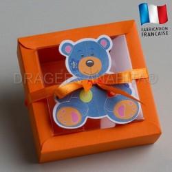 contenant dragées bapteme ours