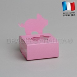 Dragées bapteme porcinet  rose