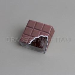 Contenant dragées carré de chocolat