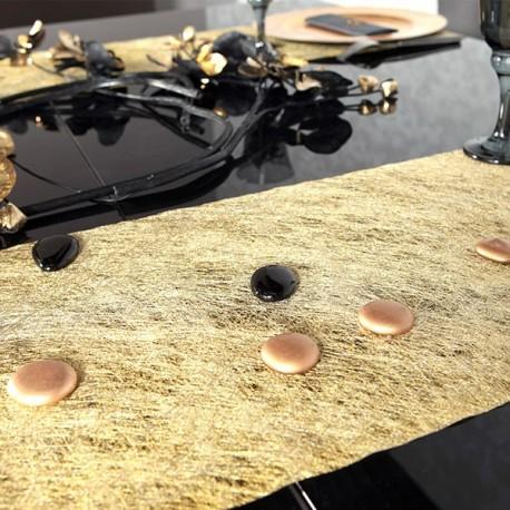 Chemin de table arabesque or pailleté
