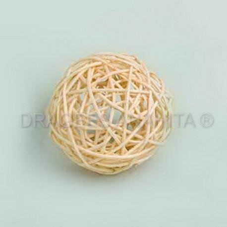 Boule rotin de couleur 9 cm